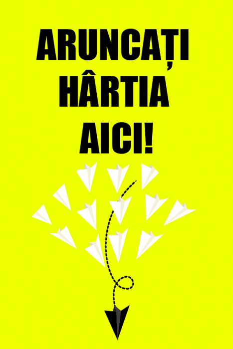 Sticker Indicator Arunca Hartia Aici 0
