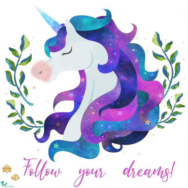 Sticker motivational - Follow your dreams - Inorog - 60x60 cm 0
