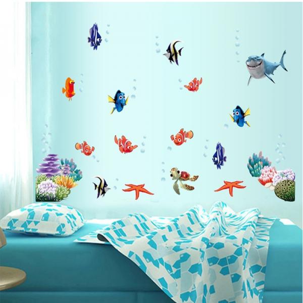 Sticker pentru camere bebelusi - Pestisori colorati 2