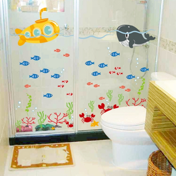 Sticker pentru camere bebelusi - Submarinul galben 5