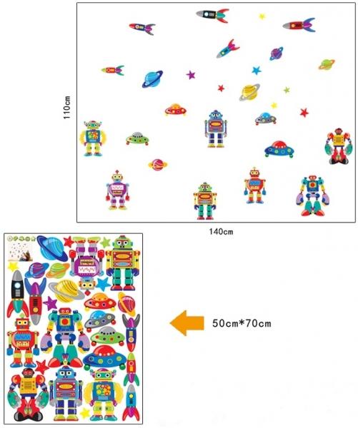 Sticker pentru copii - Robotei spatiali 5