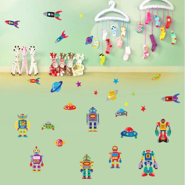 Sticker pentru copii - Robotei spatiali 3