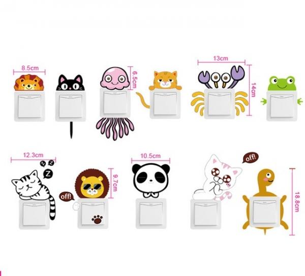 Sticker pentru intrerupator sau priza - Animale diverse 1