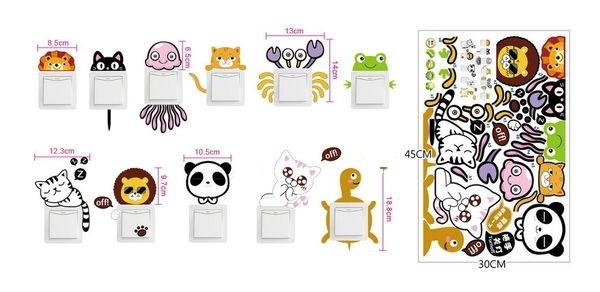 Sticker pentru intrerupator sau priza - Animale diverse 4