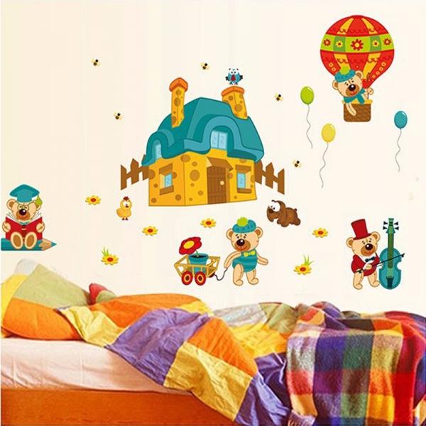 Sticker perete copii - Ursuleti in actiune 2