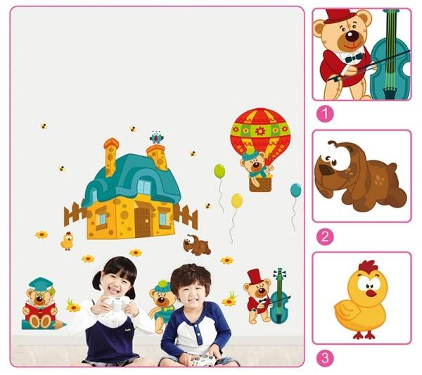 Sticker perete copii - Ursuleti in actiune 5