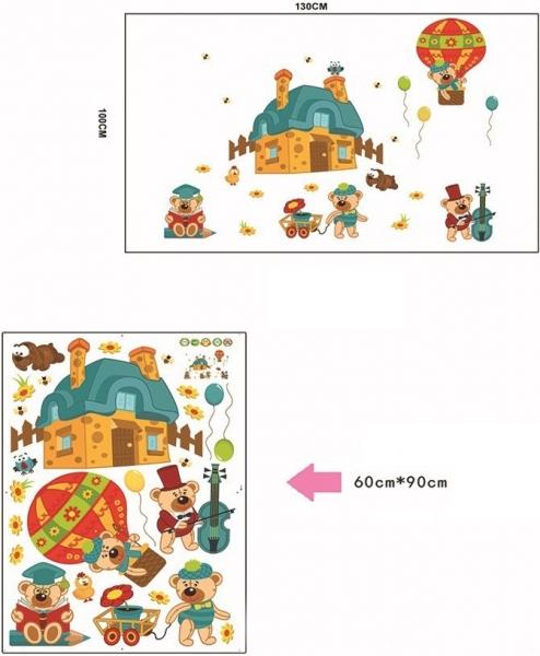 Sticker perete copii - Ursuleti in actiune 3