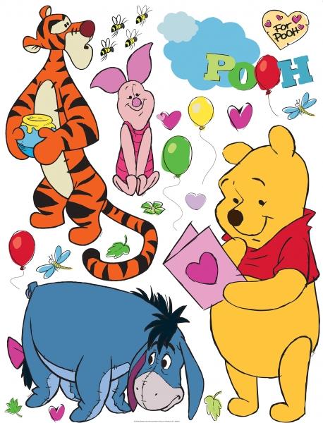 Sticker Winnie the Pooh si Prietenii - 65x85cm - DK861 0