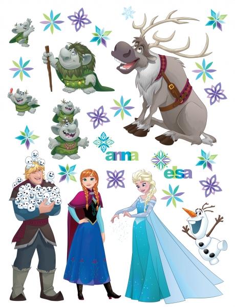 Sticker Personaje Frozen si Trolii - 65x85cm - DK2303 0