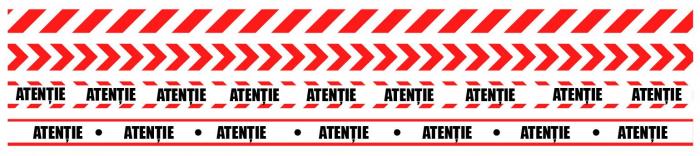 Sticker Podea - Banda de Marcare - 94x5 cm - Set 5 BUC - Rosu, Alb 0