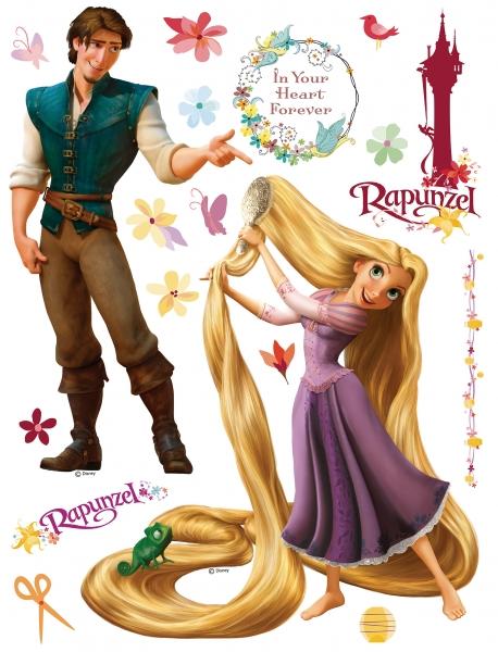 Sticker Rapunzel si Printul Eugene - 65x85cm - DK852 [0]