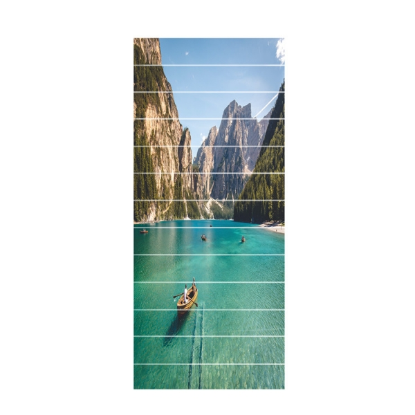 Sticker scara interioara - In barca pe lac - 13 folii de 18x100 cm [5]