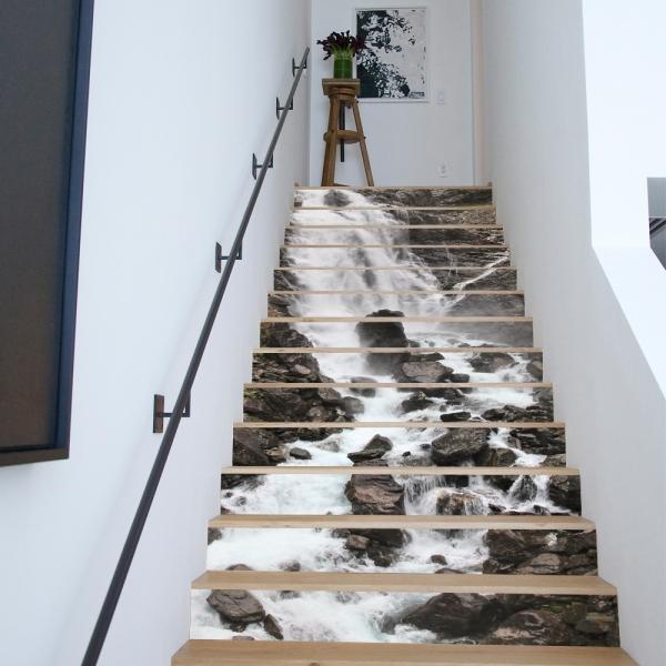 Sticker scari - Cascada pe stanca - 13 trepte de 18x100 cm 1