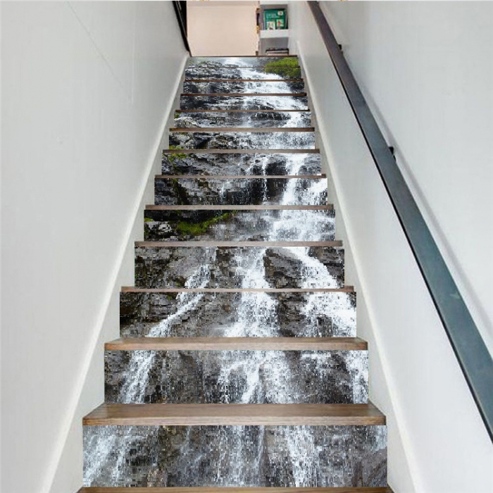 Sticker scari - Cascada pe stanca - 13 trepte de 18x100 cm 2