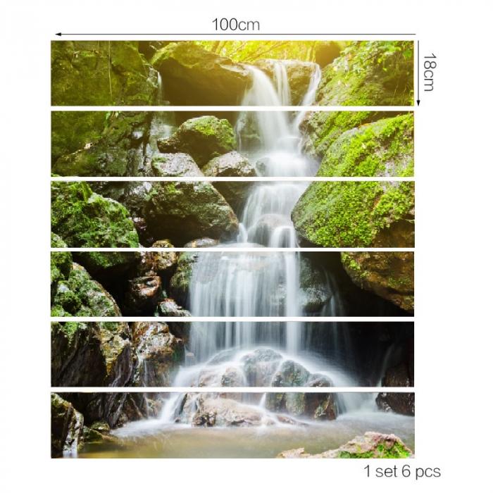 Sticker Scari - Cascada si Muschi Verde - 6 folii de 18x100 cm 2