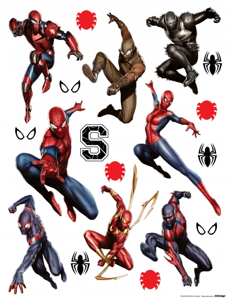 Sticker Spiderman si Spiderwoman - 65x85cm - DK1798 [0]