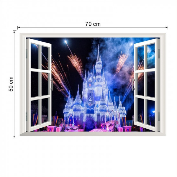 Stickere 3D pentru fete- Castel cu artificii 3