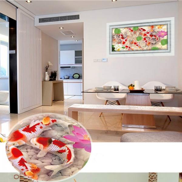 Stickere 3D pentru podea - Pesti si pietre - 60x90 cm 7