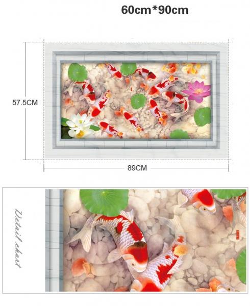 Stickere 3D pentru podea - Pesti si pietre - 60x90 cm 5