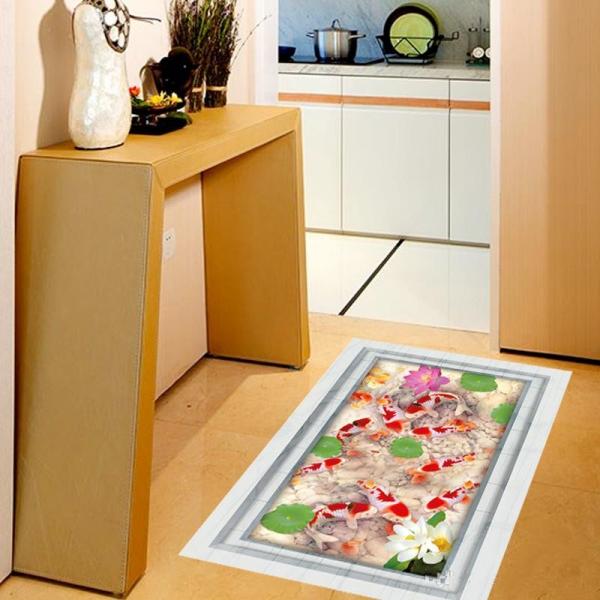 Stickere 3D pentru podea - Pesti si pietre - 60x90 cm 3