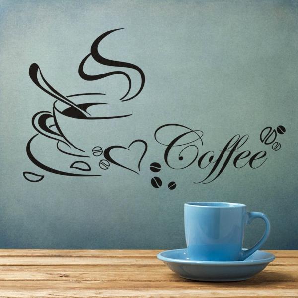 Stickere bucatarii - I love coffee - Ceasca de cafea 2