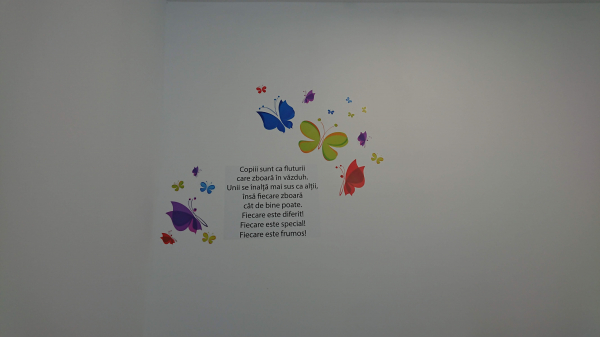 Sticker Mesaje Motivationale - Copiii sunt ca fluturii 1