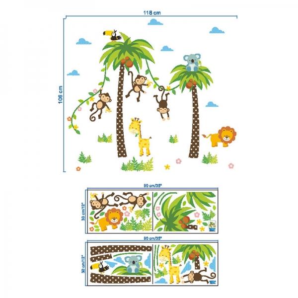 Stickere camere bebelusi - Palmieri si animale 5