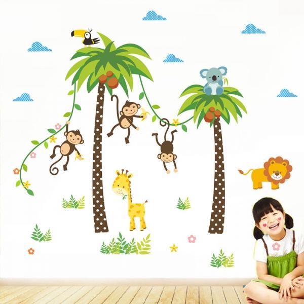 Stickere camere bebelusi - Palmieri si animale 2