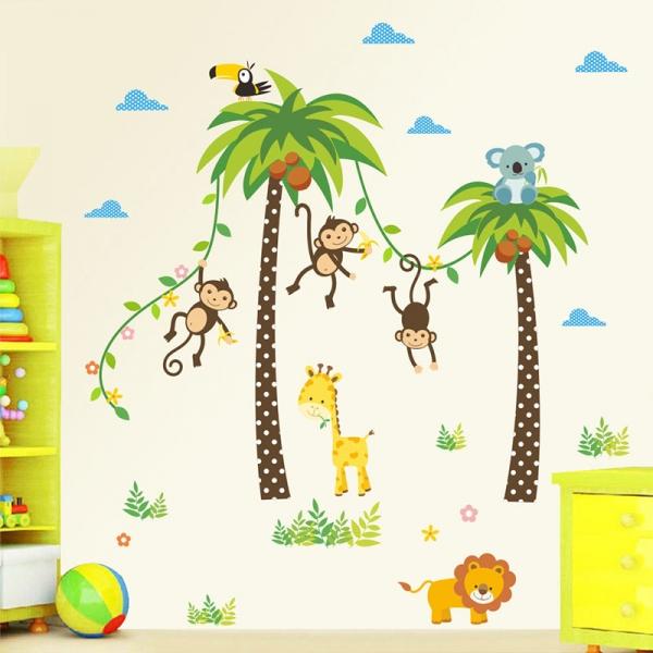 Stickere camere bebelusi - Palmieri si animale 0