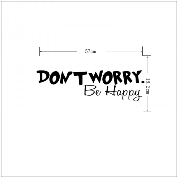 Stickere citate motivationale - Don't worry, be happy 5