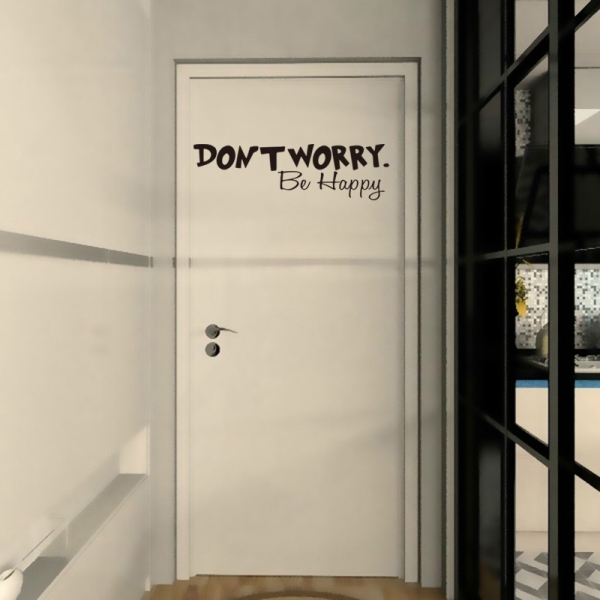 Stickere citate motivationale - Don't worry, be happy 2