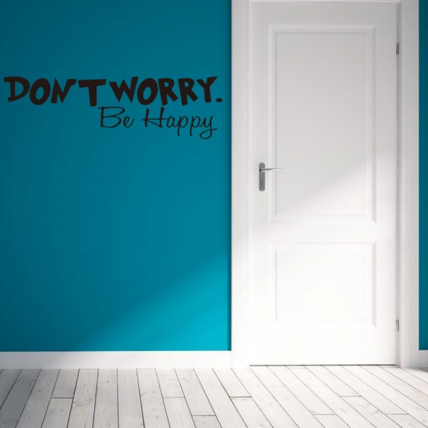 Stickere citate motivationale - Don't worry, be happy 3