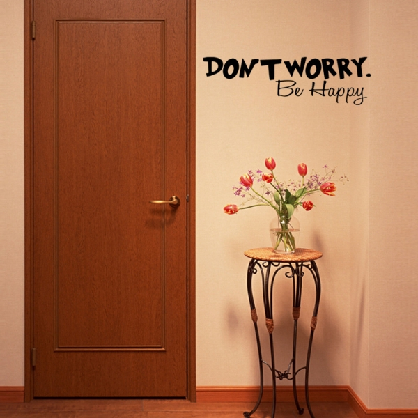 Stickere citate motivationale - Don't worry, be happy 4