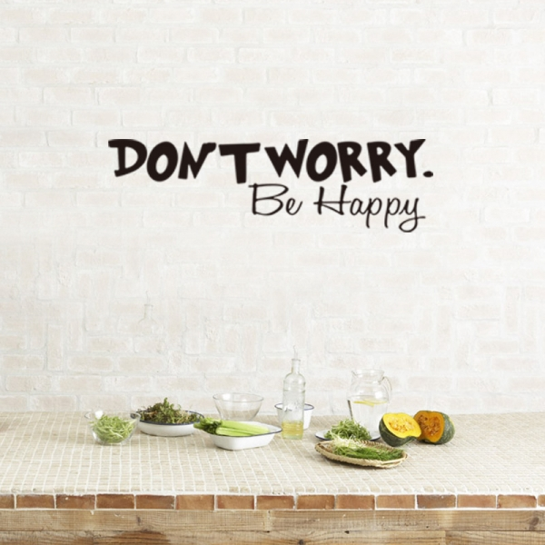 Stickere citate motivationale - Don't worry, be happy 0