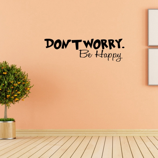 Stickere citate motivationale - Don't worry, be happy 1