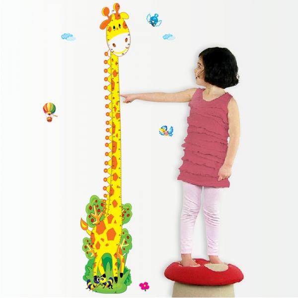 Stickere copii - Grafic de crestere girafa vesela - masurator inaltime 1
