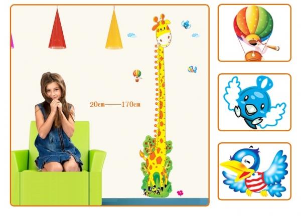 Stickere copii - Grafic de crestere girafa vesela - masurator inaltime 5