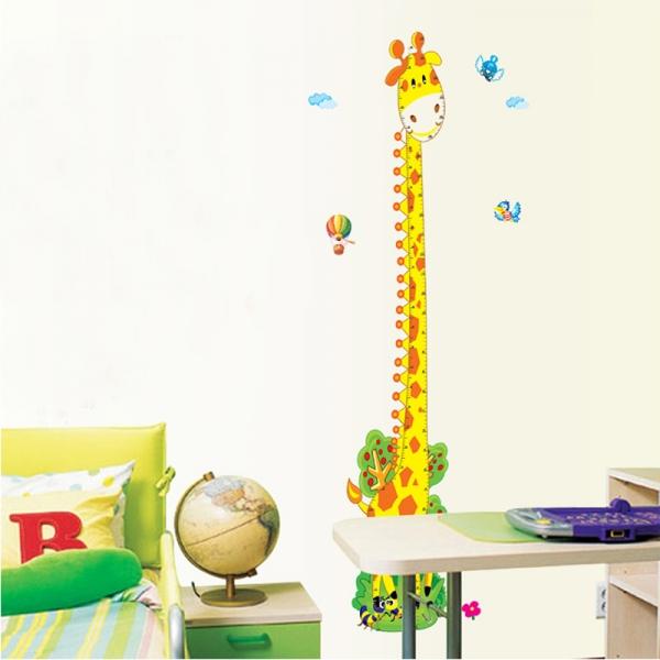 Stickere copii - Grafic de crestere girafa vesela - masurator inaltime 3