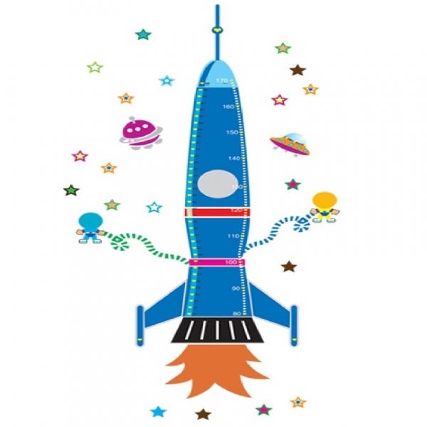 Stickere copii - Grafic de crestere Racheta spatiala - masurator inaltime 9