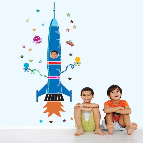 Stickere copii - Grafic de crestere Racheta spatiala - masurator inaltime 3
