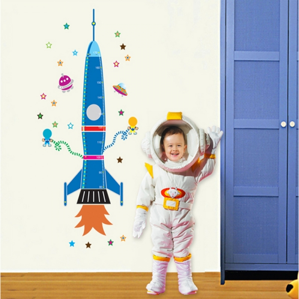 Stickere copii - Grafic de crestere Racheta spatiala - masurator inaltime 6