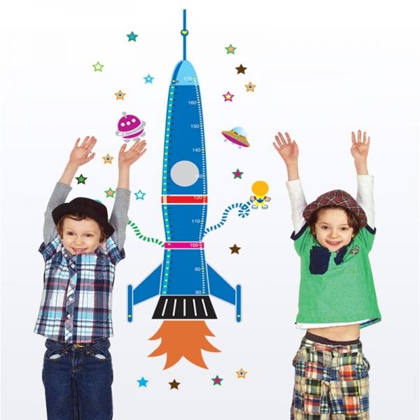 Stickere copii - Grafic de crestere Racheta spatiala - masurator inaltime 0