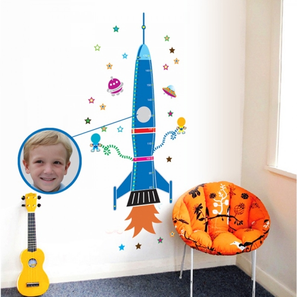 Stickere copii - Grafic de crestere Racheta spatiala - masurator inaltime 2