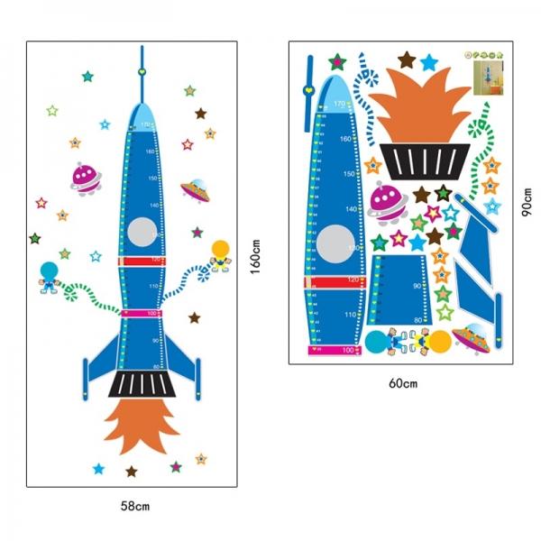 Stickere copii - Grafic de crestere Racheta spatiala - masurator inaltime 8