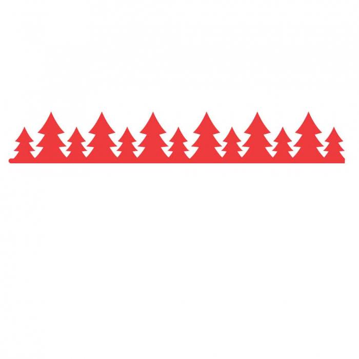 Stickere cu model repetitiv de Craciun - aprox. 5x100 cm 0