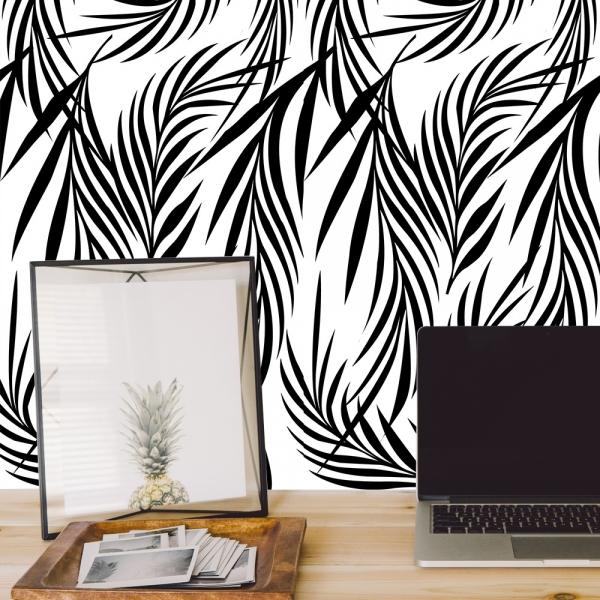 Stickere cu model repetitiv - Ramuri cu frunze ( efect de tapet) 4