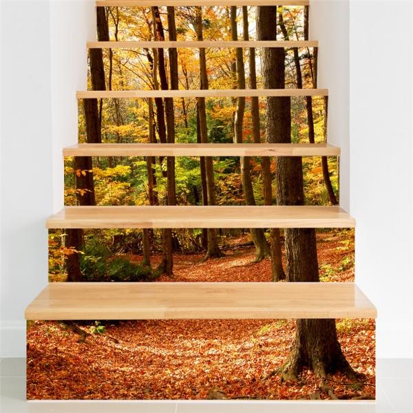 Stickere decorativ scari - Padure tomnatica - 6 folii de 18x100 cm [0]