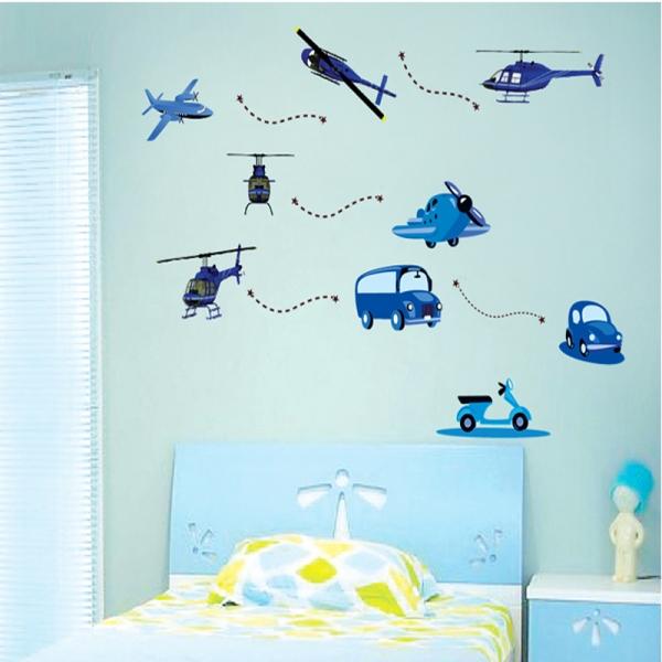 Stickere decorative pentru baieti - Avioane in zbor 4