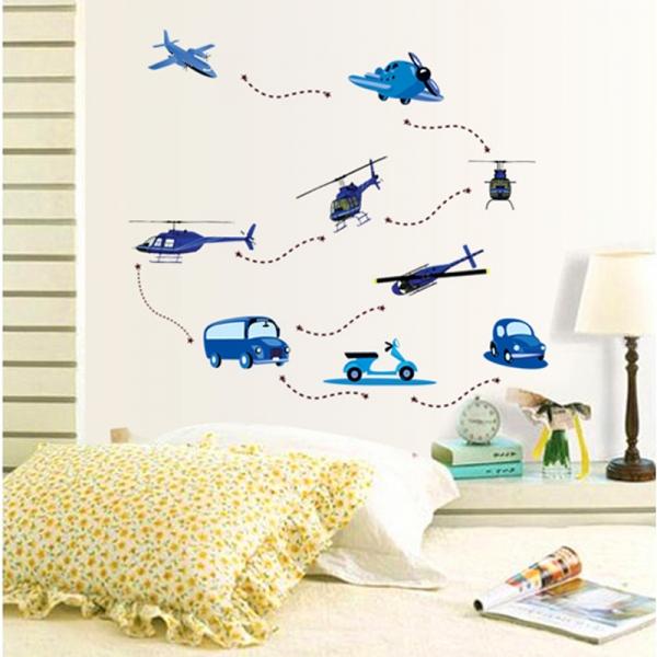 Stickere decorative pentru baieti - Avioane in zbor 3