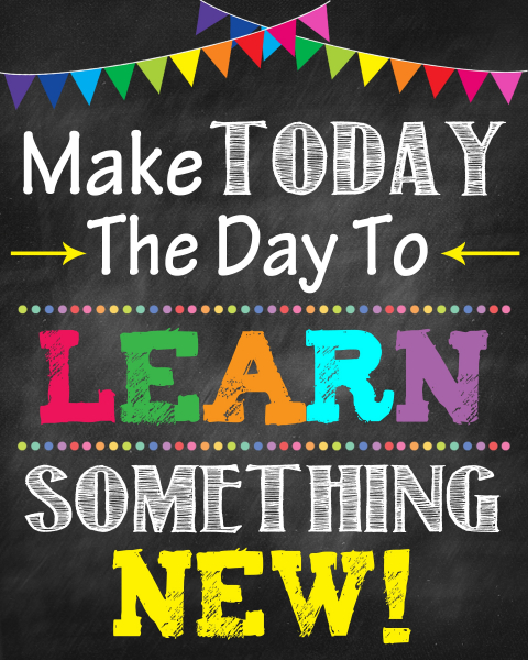 Autocolante Motivationale - Make today the day to learn something new! 0